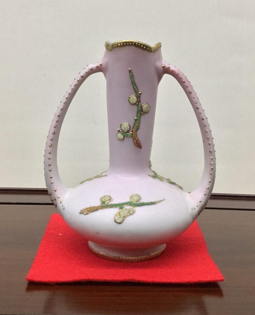コラレン 梅文両耳付花瓶