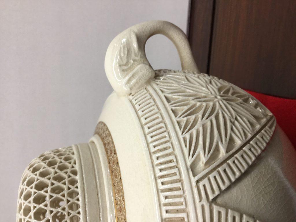 白薩摩透彫香炉